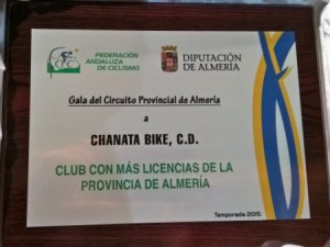 Placa Federacion CHANATA BIKE